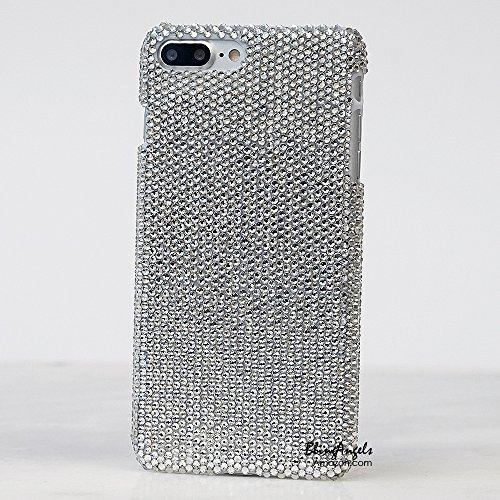 iPhone 7 Plus Case – LUXADDICTION [Premium Quality] Handmade Crystallized Clear Crystals Bling Case Sparkle Cover for iPhone 7 Plus (5.5 display) (Ge…