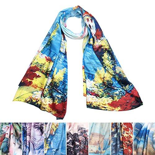 TrendsBlue-Premium-100-Pure-Silk-Floral-Scenery-Painting-Scarf-Shawl-Wrap