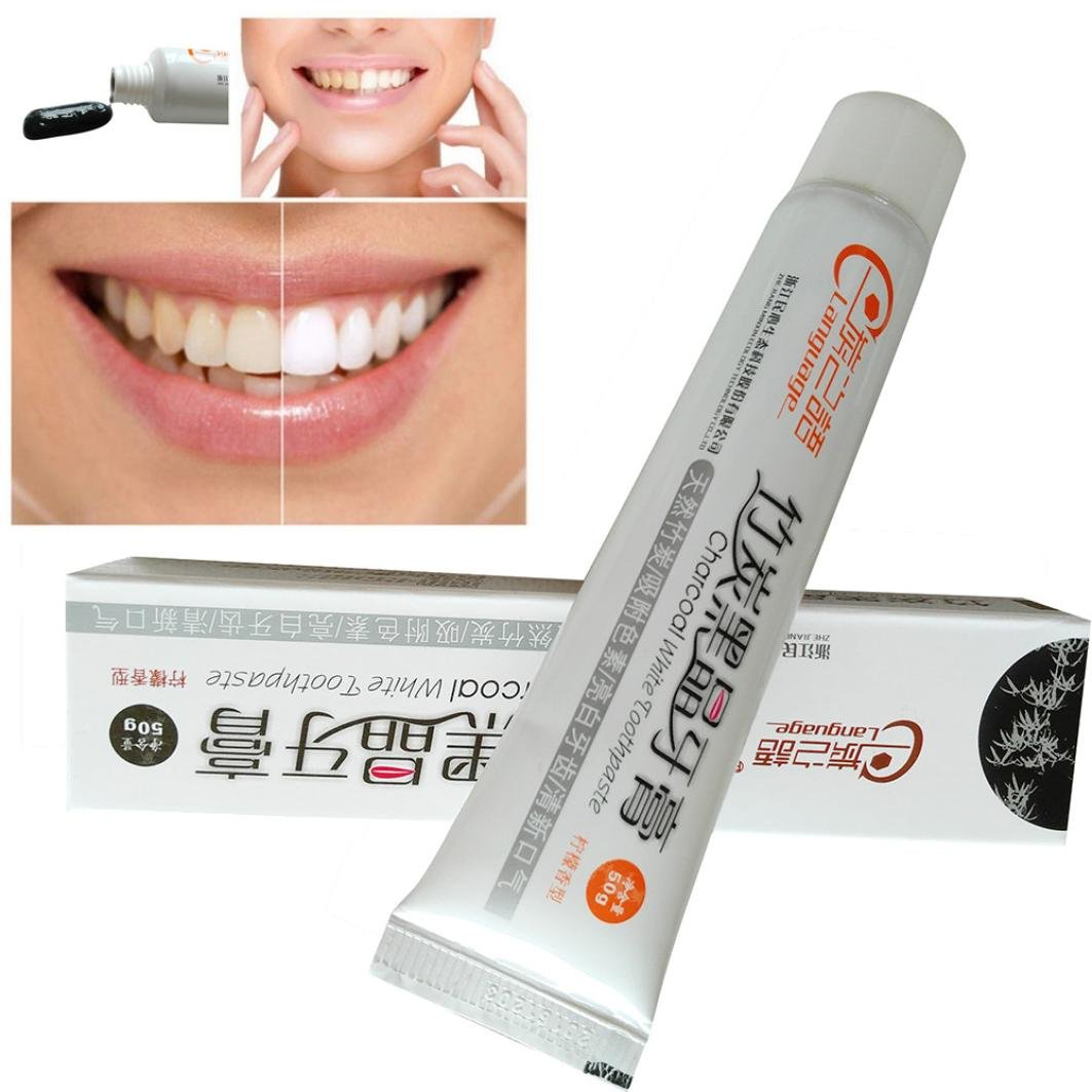 Charcoal Teeth Whitening Toothpaste - Morwind 50g Whitening Toothpaste Natural Bamboo Charcoal Black Whitener Tooth Paste