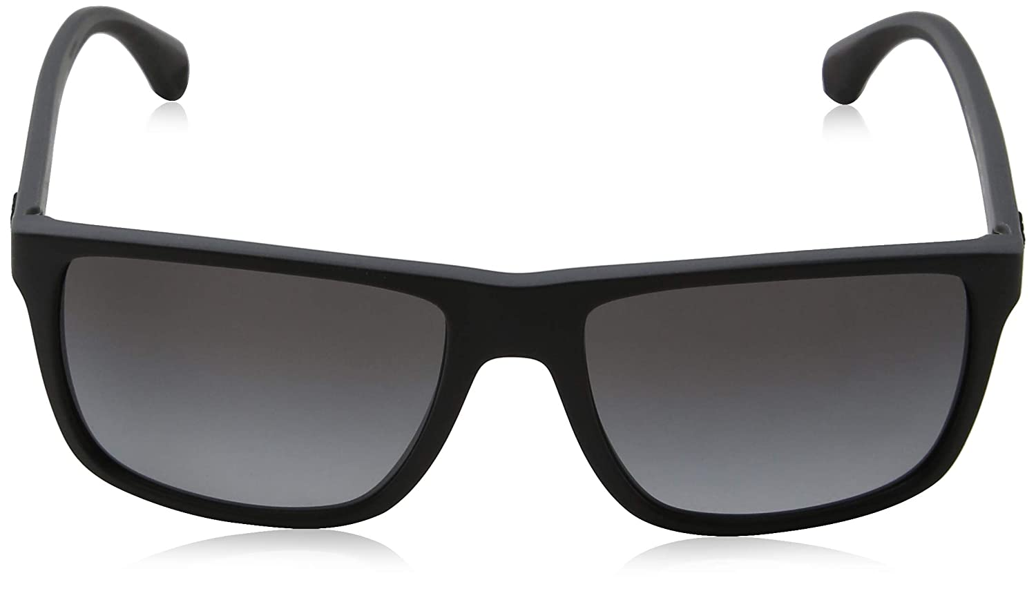 6b5caf628ae Amazon.com  Emporio Armani Men s 0EA4033 Black Grey Rubber Polar Grey  Gradient Sunglasses  Emporio Armani  Clothing