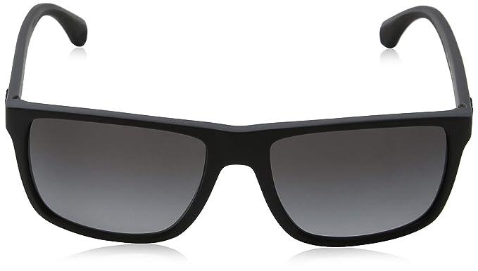 99df9773206 Amazon.com  Emporio Armani Men s 0EA4033 Black Grey Rubber Polar Grey  Gradient Sunglasses  Emporio Armani  Clothing