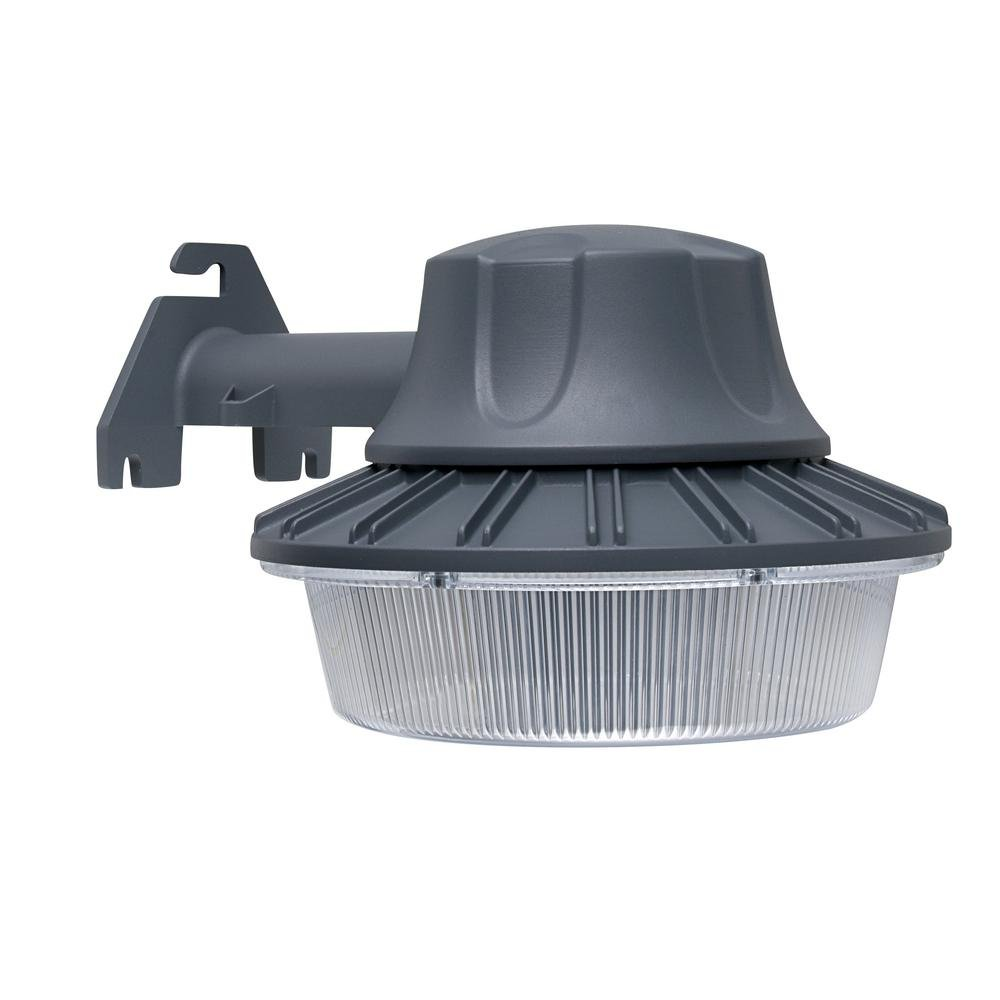 Defiant DW9519GY-A Wall/Pole Mount Area Light Outdoor LED with Dusk to Dawn  Control - - Amazon.com