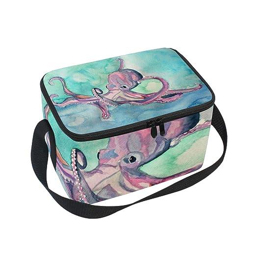 Bolsa de almuerzo para pintar pulpos para picnic, correa de ...