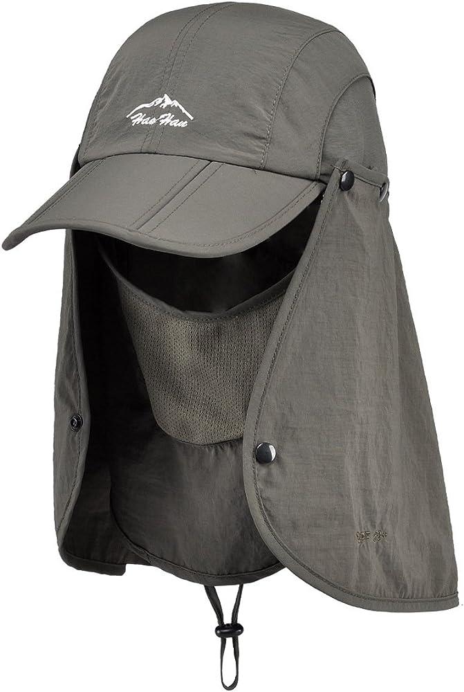 7c9843bb Thenice Unisex Headwear Folding Quick Dry Legionnaire Hat / Cap (Army Green)
