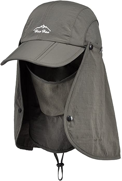 9a3519214d1 Thenice Unisex Headwear Folding Quick Dry Legionnaire Hat   Cap (Army Green)