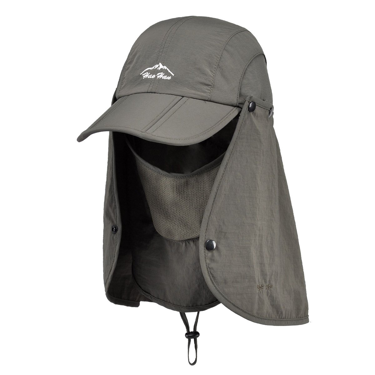 Belsen UPF 50+ Summer Hat Neck Protection Flap Cap (Army Green) by Belsen