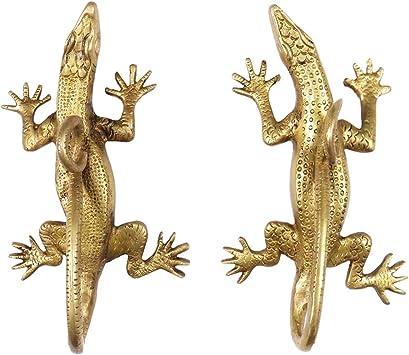 "5/"" Pair Brass Lizard Door Handles Cabinet Pulls Bronze Antique Indian Bohemian A"