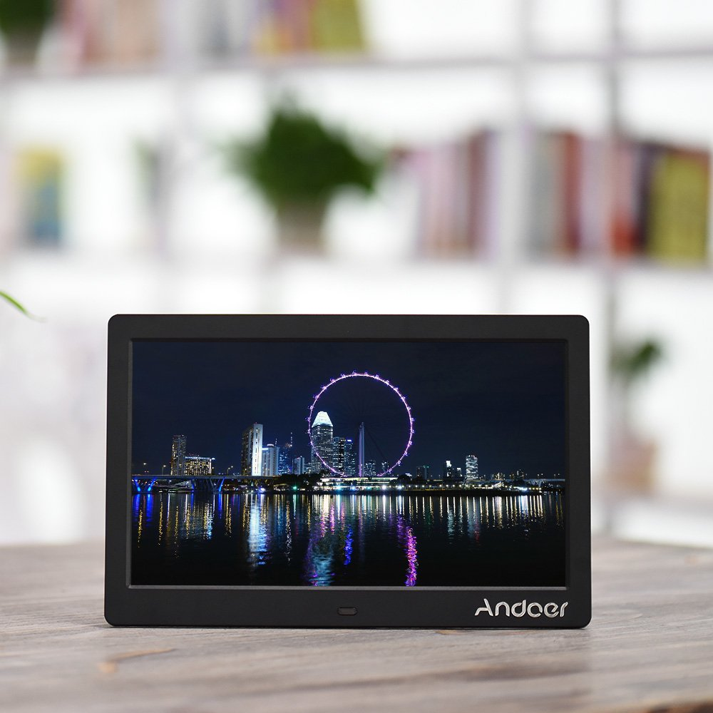 Amazon andoer hd lcd digital photo picture frame 10 inch amazon andoer hd lcd digital photo picture frame 10 inch wide screen high resolution 1024x600 clock mp3 mp4 video player with remote control camera jeuxipadfo Image collections