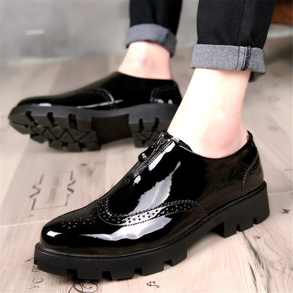 Banquete de Boda y Zapatos Formales de Noche Zapatos con Punta de Moda Zapatos Bullock tallados YAN Zapatos Casuales para Hombre Zapatos de Plataforma con Suela Gruesa
