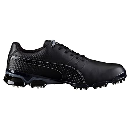 Puma TitanTour Ignite Golf Shoes Black/Steel Gray - 10.5