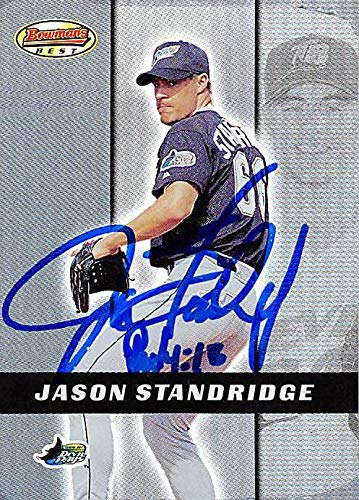 - Jason Standridge autographed baseball card (Tampa Rays) 2000 Bowmans Best #124