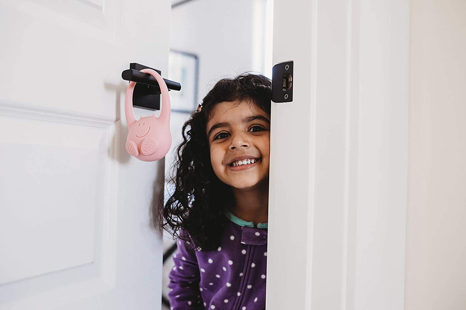 Alerts You When Your Child Leaves Their Bedroom Motion Sensor Device Toddlermonitor The Next Phase of Baby Monitor Smartphone Enabled Door Hanging Pink