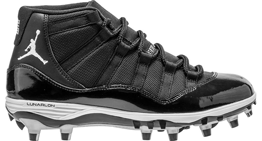 buy online 1e268 189ca Amazon.com   Nike Mens Air Jordan XI 11 Retro TD Football Cleats  Black White Metallic Silver AO1561-011 Size 13   Basketball