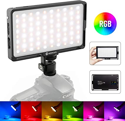 Moman RGB Antorcha Led Video, Foco Led Camara con Batería ...