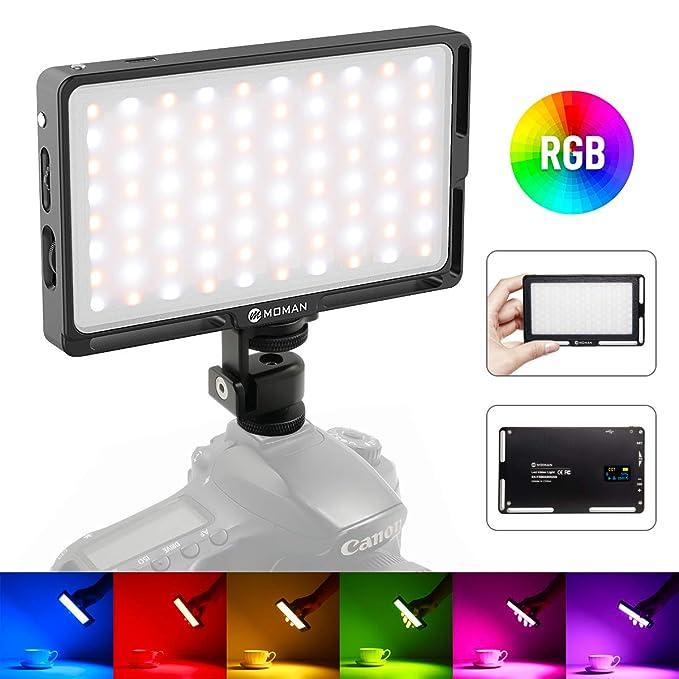 108 opinioni per Moman RGB Luce LED Reflex, Faretto LED Fotografia di Batteria Incorporata, Luci
