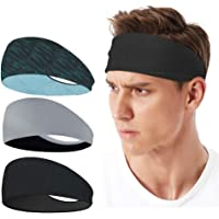 LATTCURE Sporthoofdband, hoofdband, 3 stuks, zweetband, hoofdband, antislip, voor joggen, hardlopen, wandelen, fietsen…