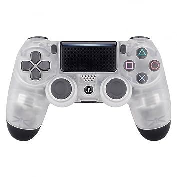 eXtremeRate Carcasa Mando PS4 Accesorios Funda Delantera Protectora de la Placa Frontal Cubierta reemplazable para Controlador del Playstation 4 PS4 ...