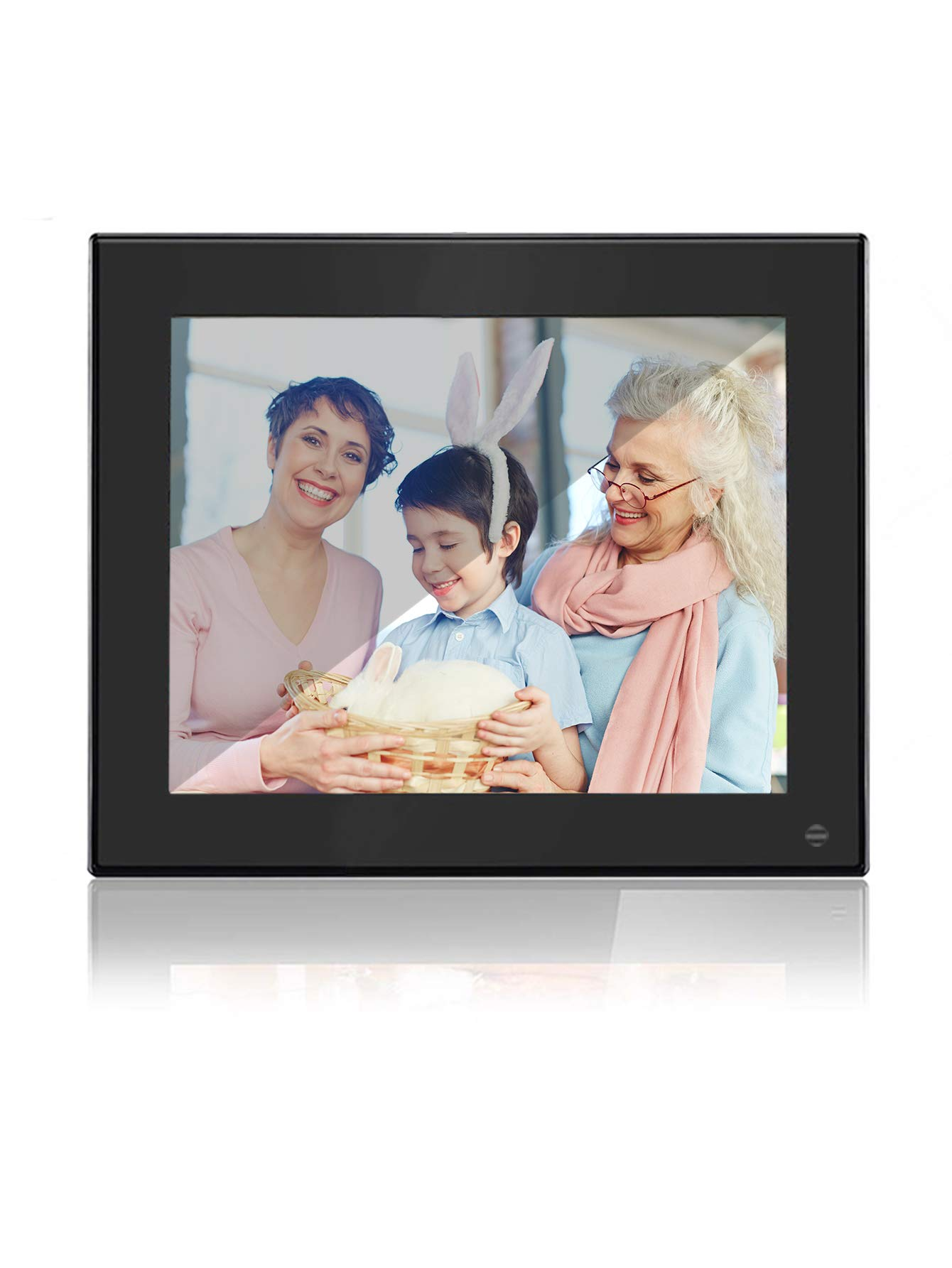 BSIMB Digital Photo Frame Digital Picture Frame 8 Inch 1024×768 Resolution Display with Calendar,Music,Video and USB,SD Card and Remote Control(M03 Black) by Bsimb (Image #1)
