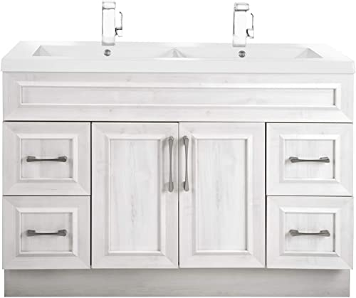 Classic Collection 48 Bathroom Vanity – With Double Bowl Top, Fogo Harbor