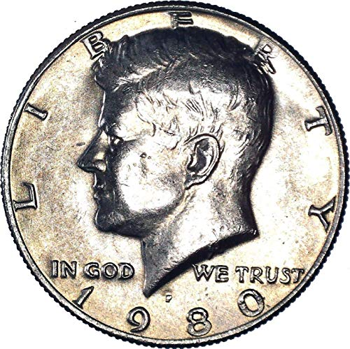 1980 P Kennedy Half Dollar 50C About Uncirculated