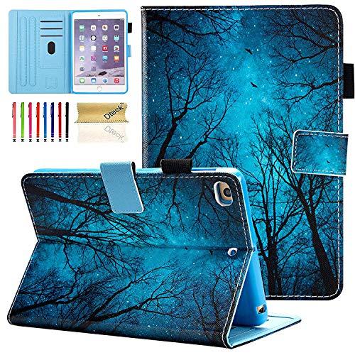Dteck iPad Mini 1/2/3/4 Case - Slim Fit Premium PU Leather [Multi-Angle View] Folio Stand Wallet Cover with Auto Wake/Sleep Smart for Apple iPad Mini 1/Mini 2/Mini 3/Mini 4, Forest Night