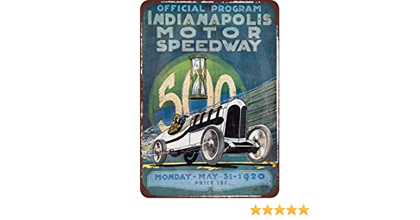 40th Annual Indianapolis 500 Pub Home Decor Metal Tin Sign Weytff 8 x 12 Metal Sign