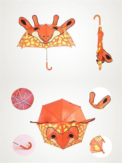 Paraguas de dibujos animados lindo para los niños Jirafa