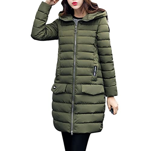 Zhhaijq Caliente para el invierno Winter New Women Fashion Hooded Body Ladies Thin Down Jacket Cotto...