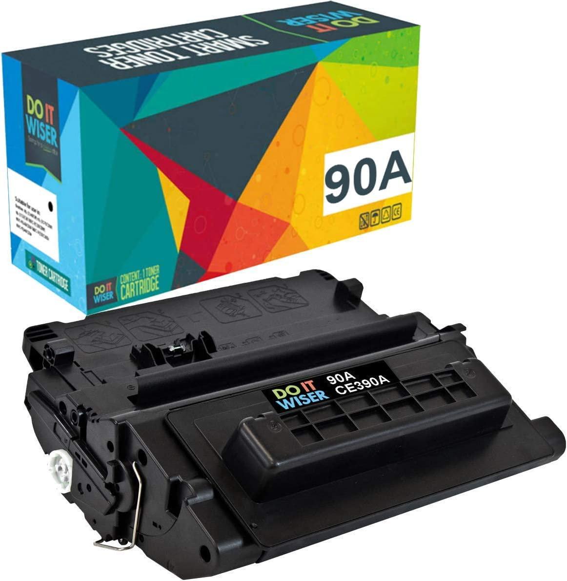 Do it Wiser Compatible Toner Cartridge Replacement for HP 90A CE390A HP Laserjet M602 M603 M4555 M601 M601n M602n M603n (Black)
