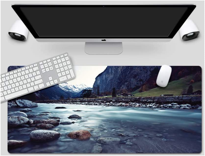 Tender Dragon Mountain Style Desk Pad Large Padded Waterproof Non-Slip Keyboard Pad Mouse Pad Suitable for Desktop Computer//Notebook,1200x600mmx5mm