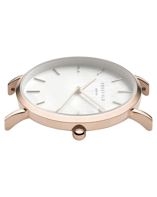 Rosefield Reloj Digital para Mujer con Correa de Cuero - WEGR-W75: Amazon.es: Relojes