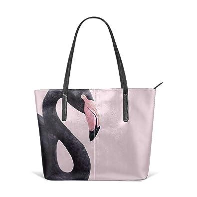 Sotyi-ltd Bolsa de mano de flamenco negro para playa, bolsa ...