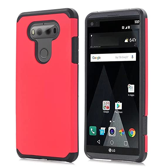 best website 3aad3 1185e LG V20 Case LGV20 Phone Cover Hard PC With Soft TPU Hybrid Shockproof Drop  Protection Impact Rugged Hard Armor for LG V20 (Red)