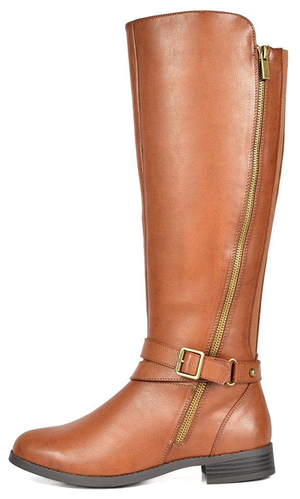 7b9dfc3ff2979 TOETOS Women's Donna Tan Knee High Winter Riding Boots Size 11 M US