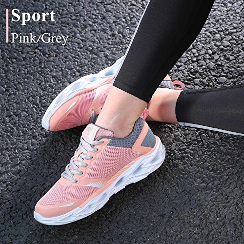 Camel Women's Trail Running Shoes, Lightweight Shockproof Fashion Athletic Sneakers for Gym Outdoor Sports Pink Size 7 by Camel (Image #2)