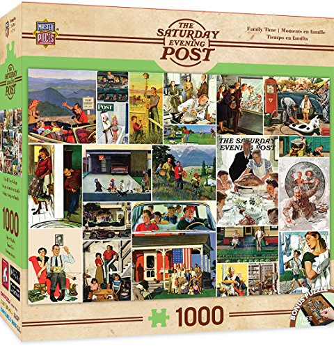 MasterPieces Saturday Evening Post Family Time Collage Jigsaw Puzzle, 1000-Piece
