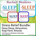 Stress Relief Bundle: Deep Sleep, Relaxation, Stop Panic Attacks, Hypnosis and Meditation : The Sleep Learning System with Rachael Meddows Speech by Joel Thielke Narrated by Rachael Meddows