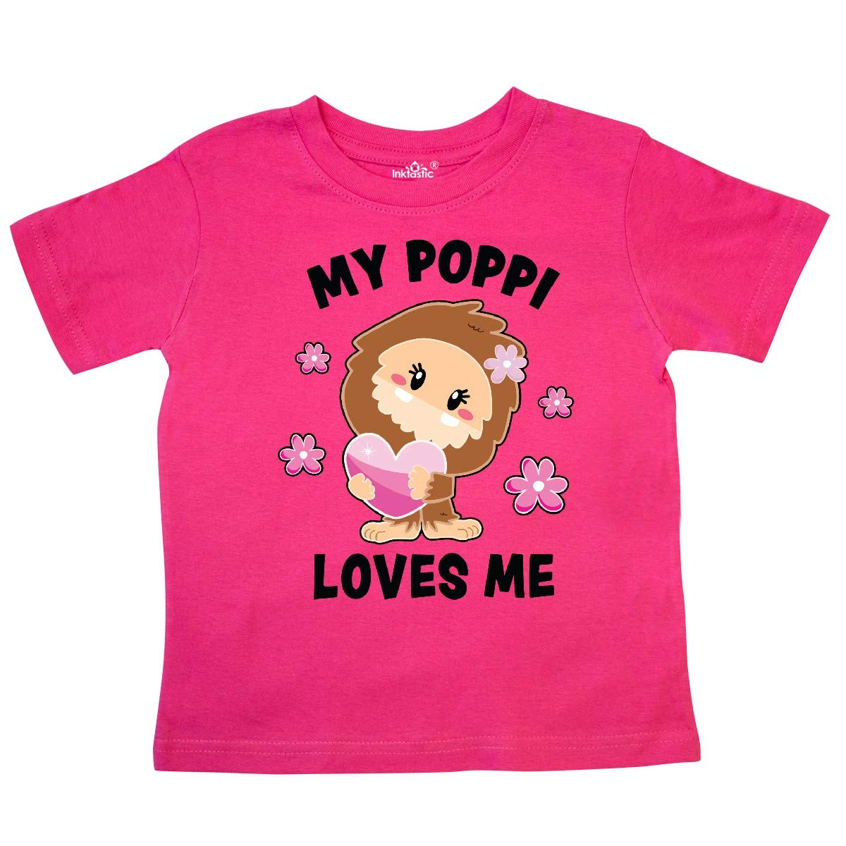 inktastic My Poppi Loves Me with Bigfoot Toddler T-Shirt