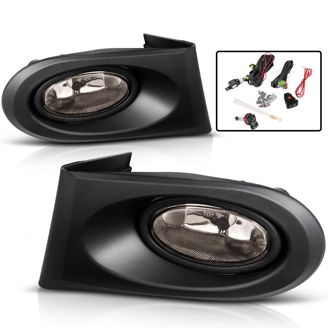 AUTOSAVER88 Fog Lights For Acura RSX 2002 2003 2004 (Real Gl Smoke on