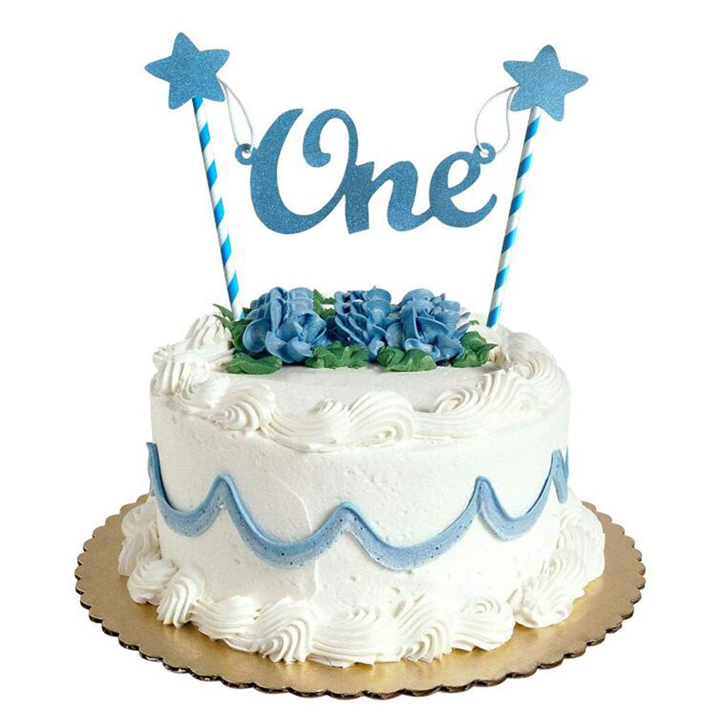 Chenpu 1st Birthday Cake Topper Baby Boy First Party Decoations Co Uk Toys Games