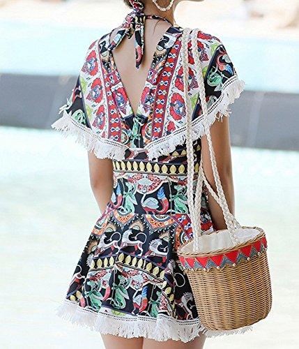 Bagno summer Beach Spa Un Gonna Top Conservative Bagno Skirt Pezzo Da Donna Homee Di nero Costume Intero wXqt1gtEx