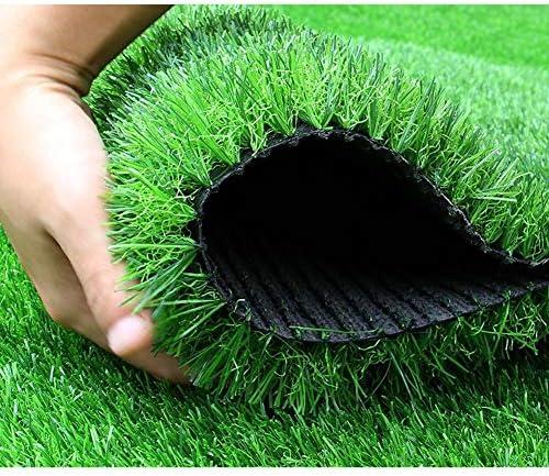 人工芝カーペットゴルフ草屋外の芝生のフェンスグッド透水性難燃剤の高密度高弾性 (Size : Grass heigh3.5cm)