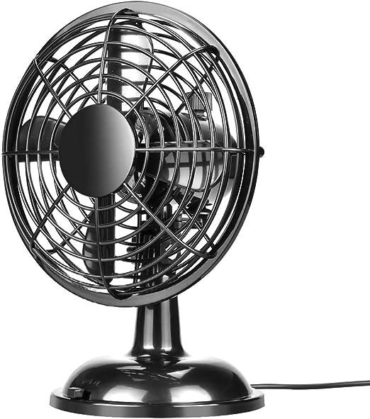 OTraki Ventilador USB 2 Velocidades ventilador de mesa Silencioso ...