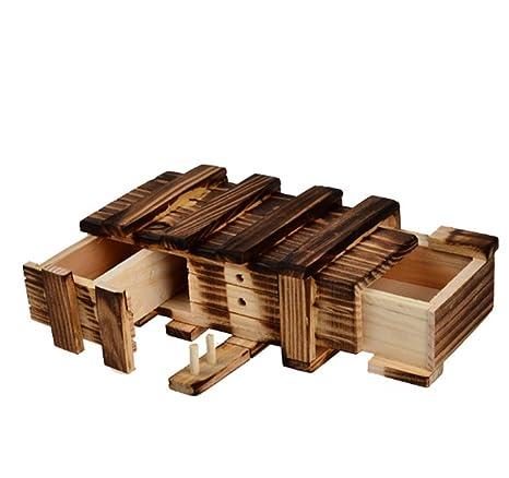Lomire Caja Mágica de Manera con Dos Mágicos Cajones Secretos de Regalo Interesante Caja Almacenamiento de