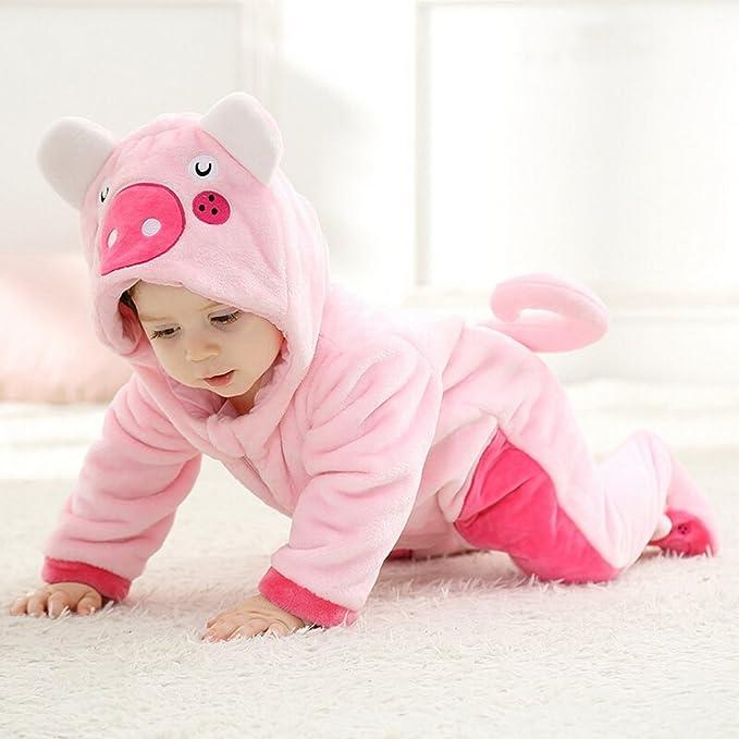aed2756d9a9d3 La Vogue Vêtement Combinaison Enfant Bébé Pyjama Grenouillère Hiver Chaud  Forme Animal Déguisement  Amazon.fr  Vêtements et accessoires
