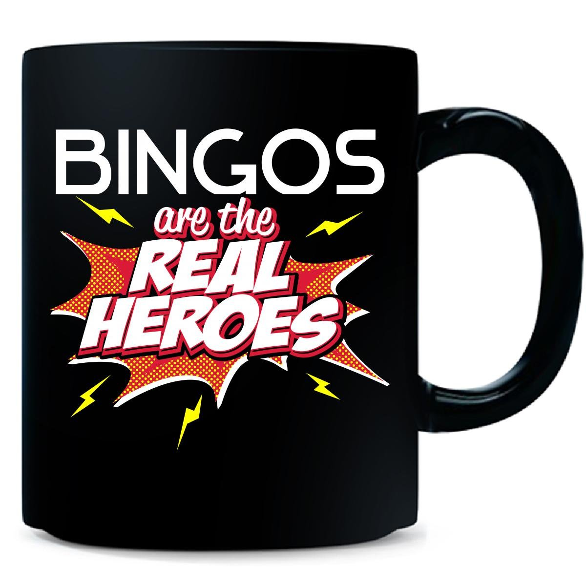 Bingos Are The Real Heroes Cute Gift For Grandmother - Mug by My Family Tee