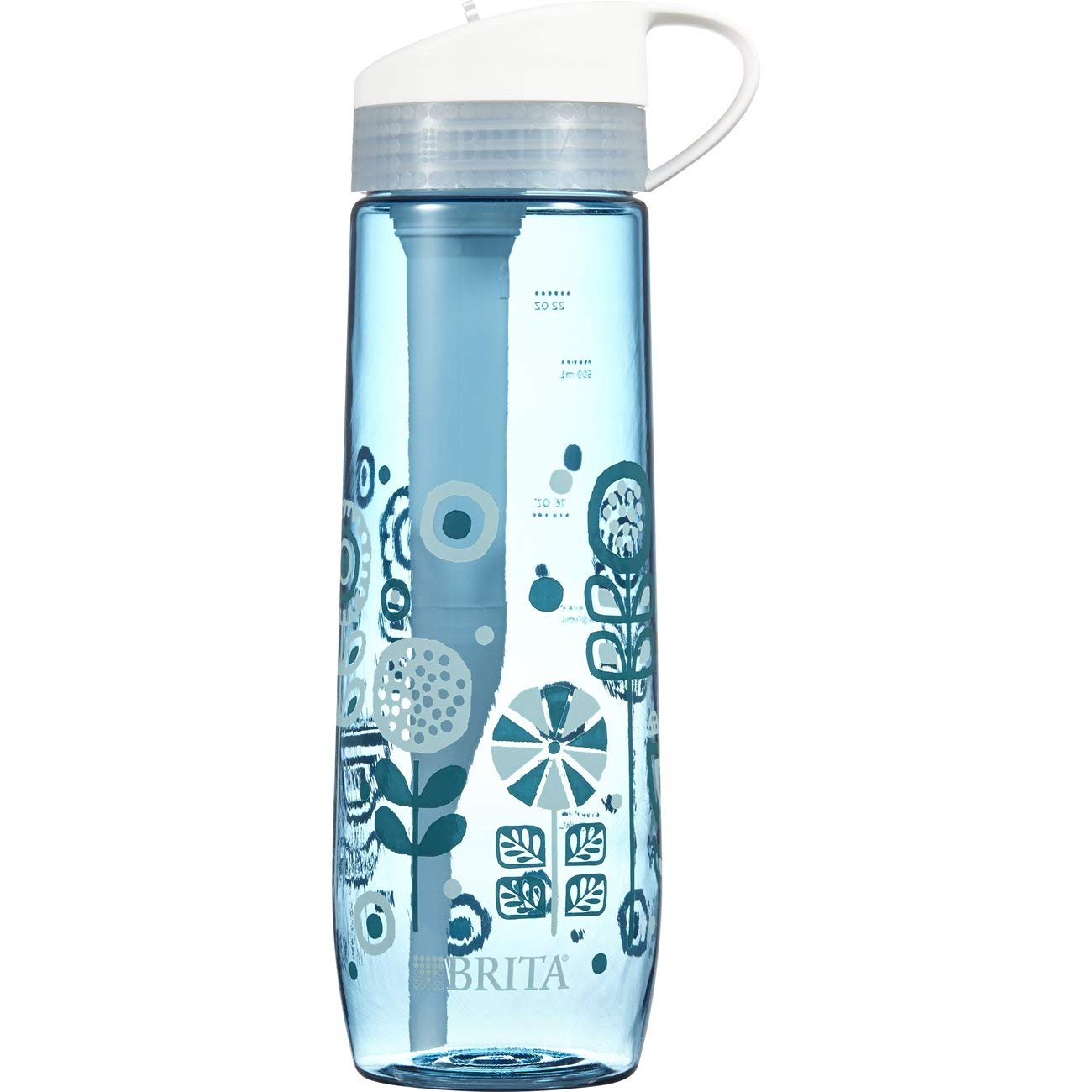 Brita 23.7 Ounce Hard Sided Water Bottle with 1 Filter, BPA Free