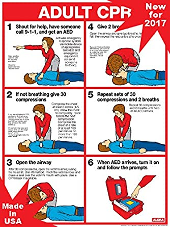 photograph about Cpr Posters Free Printable called CPR FOR Grown ups Up-to-date Specifications FOR 2017 - 18\