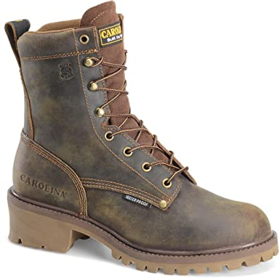 Carolina 9830 Mens 8 In Waterproof Steel Toe Logger