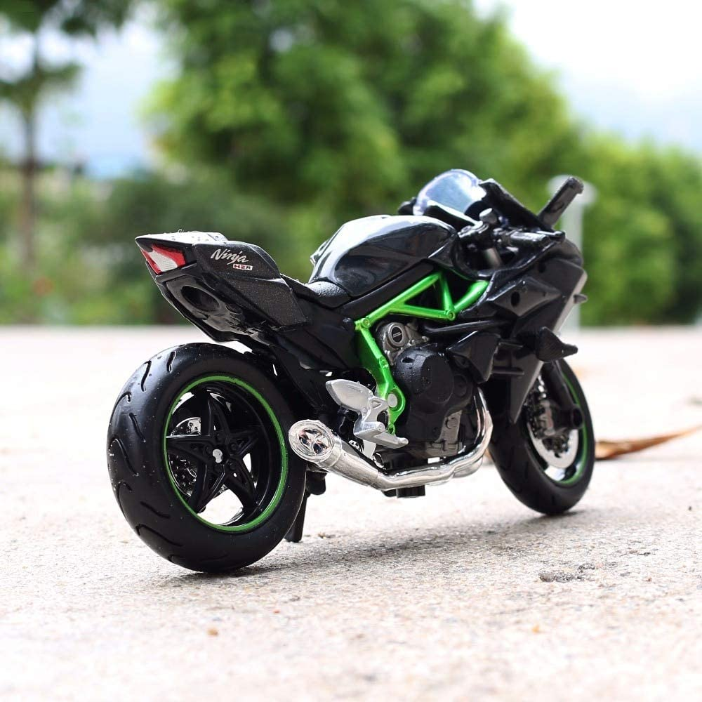 Amazon.com: Greensun escala 1:18 Kawasaki H2 Moto Race ...